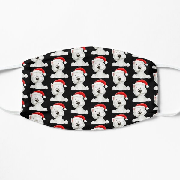 Santa Westie pattern Mask Mask