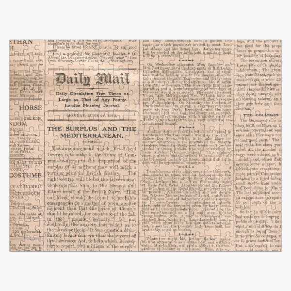 Historical #Old #Newspaper #OldNewspaper #HistoricalNewspaper Jigsaw Puzzle
