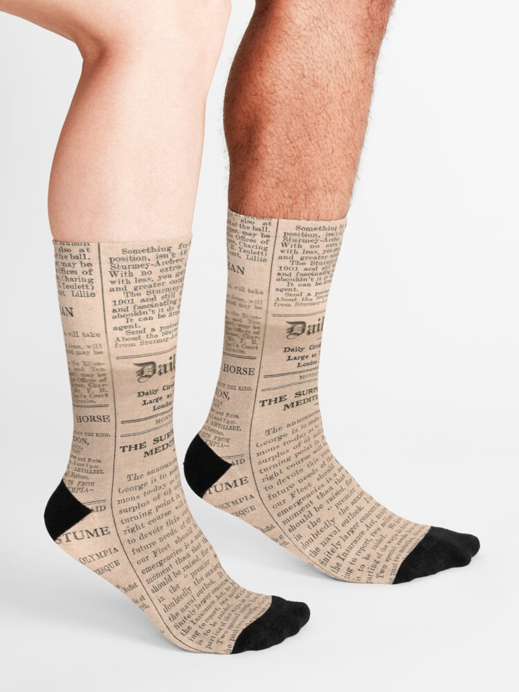 Alternate view of Historical #Old #Newspaper #OldNewspaper #HistoricalNewspaper Socks