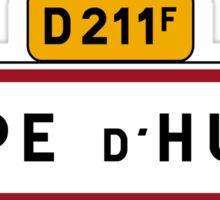 Alpe D'Huez, Road Sign, France Sticker