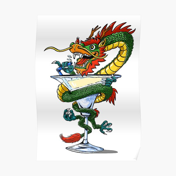 Chinese Cocktail Dragon Poster