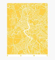 Rome map yellow Photographic Print