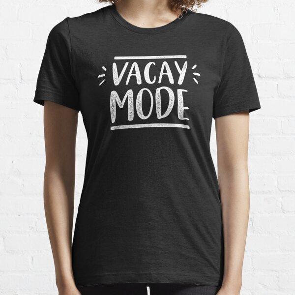 "VIOLET WOLVES /""VACAY MODE/""  WOMENS HOLIDAY TRAVEL FASHION SLOGAN T-SHIRT TOP"