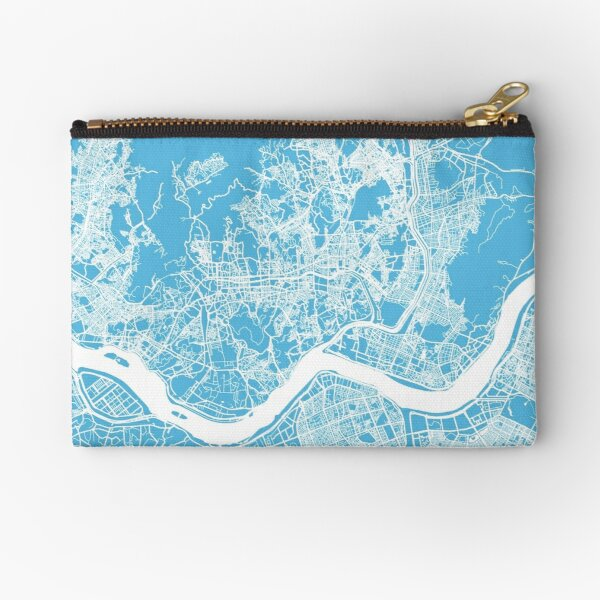 Seoul map blue Zipper Pouch