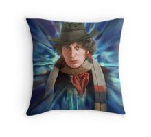 Doctor Who: The Tom Baker Years - The Fourth Doctor  Throw Pillow