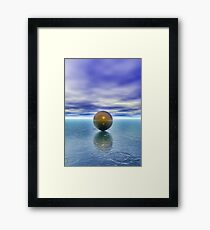 Flaoting ball Framed Print