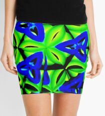 Blue Boomarang Mini Skirt
