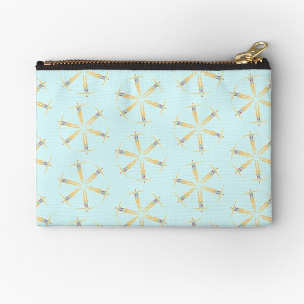 Synchronized Swimming.  Artistic swimmers in a synchro team.  Synchronized swimmer Zipper Pouch