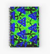 Blue Boomarang Spiral Notebook