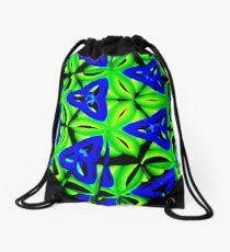 Blue Boomarang Drawstring Bag
