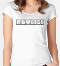 Newsies Logo Women's Fitted Scoop T-Shirt