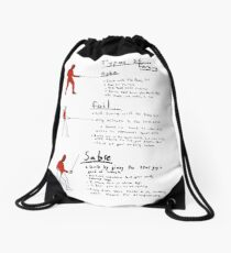 How to Fence Drawstring Bag