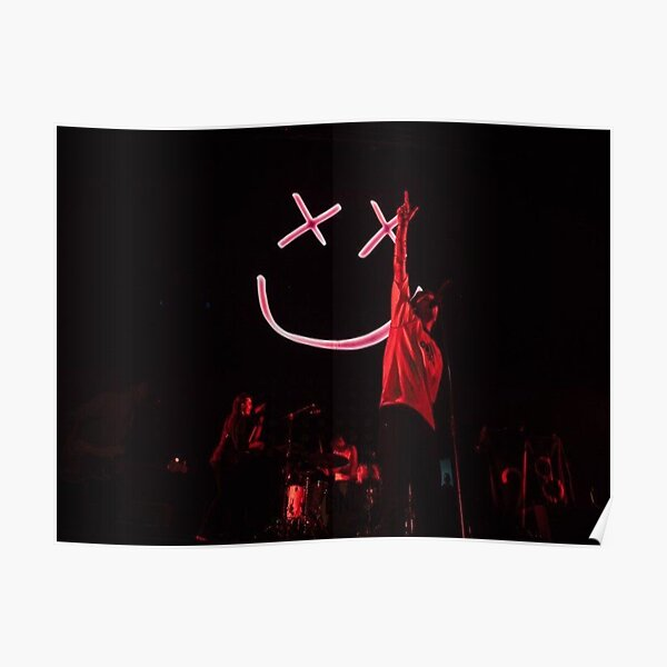 Louis Tomlinson Concert Smiley Face Poster