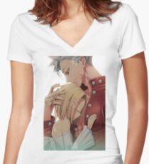 Ban & Elaine Women's Fitted V-Neck T-Shirt