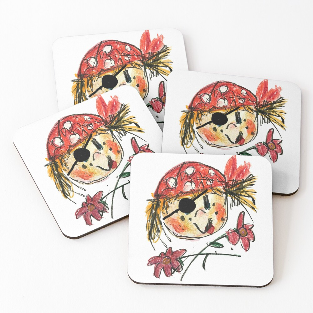 Jolly Rosie Coasters (Set of 4)