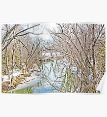 WINTERTIME AT THE CREEK Poster