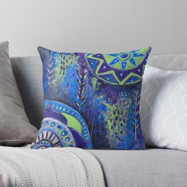 Abstract Mandalas II Throw Pillow