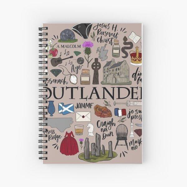 Outlander in Typography Spiral Notebook