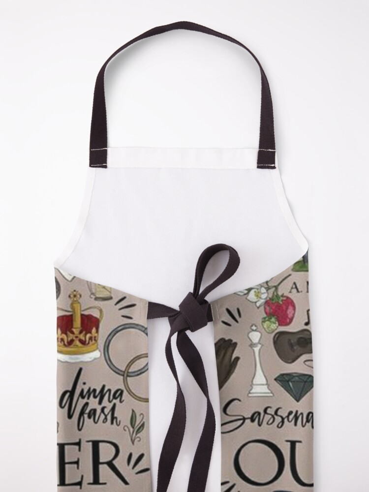 Alternate view of Outlander in Typography Apron