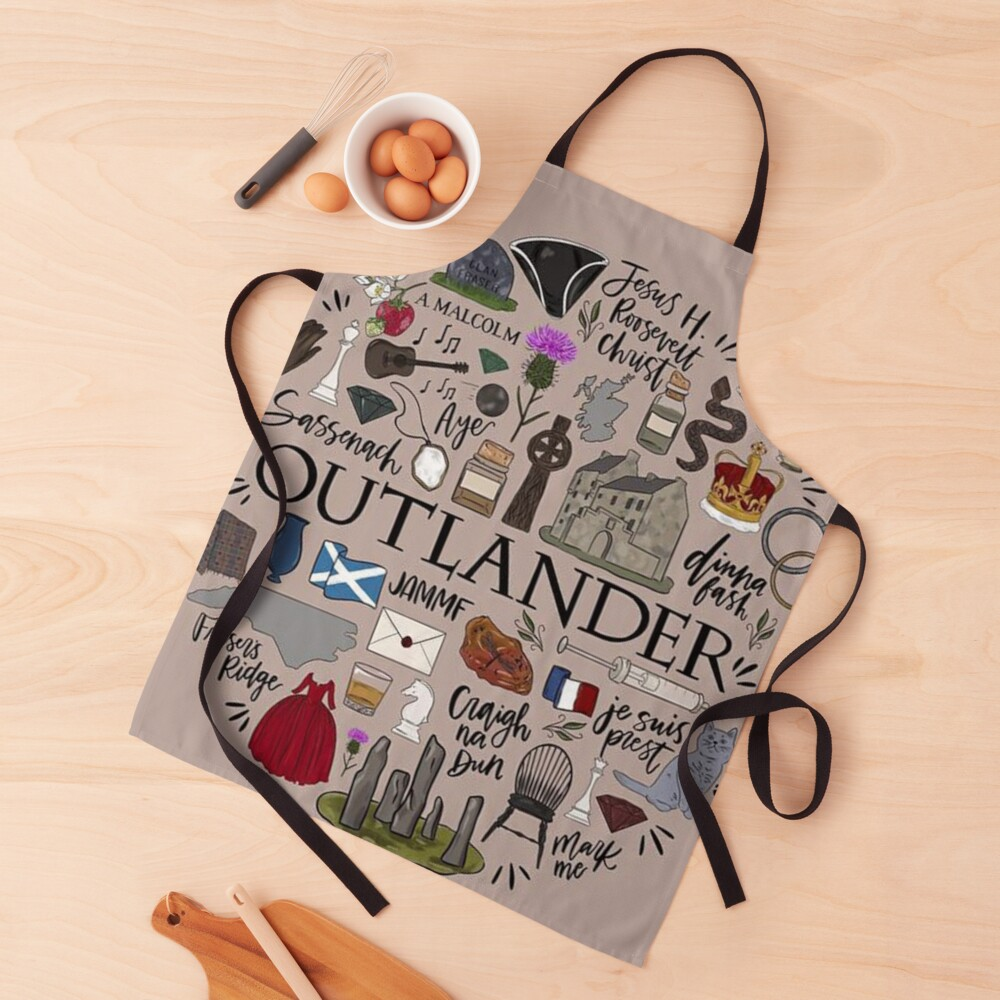 Outlander in Typography Apron