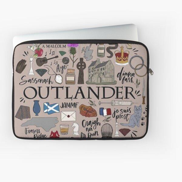 Outlander in Typography Laptop Sleeve