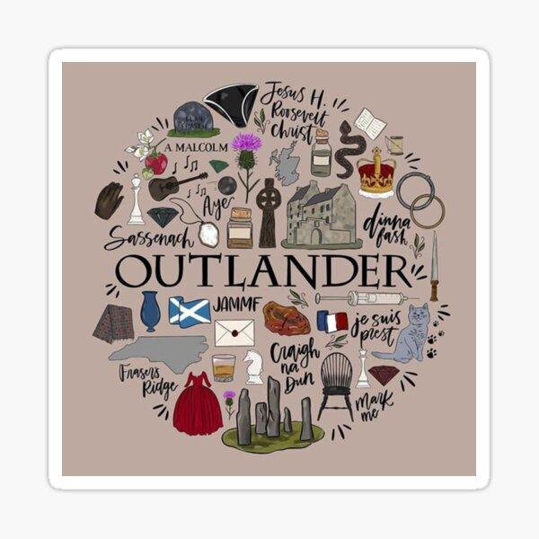 Outlander en typographie Sticker
