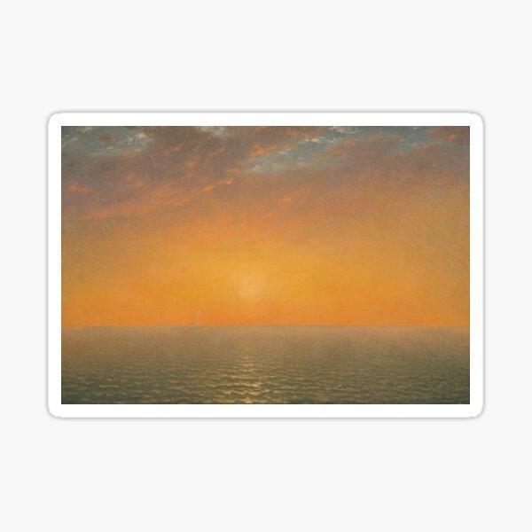Sunset on the Sea by John Frederick Kensett, 1872   Sticker