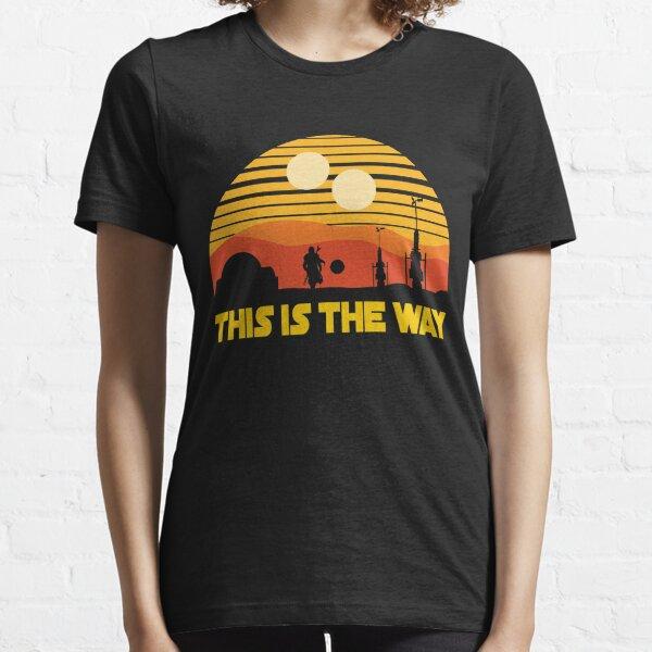 esta es la puesta de sol vintage Camiseta esencial