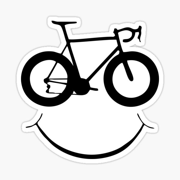 BEST TO BUY - Smiling Bicycle Face Sticker