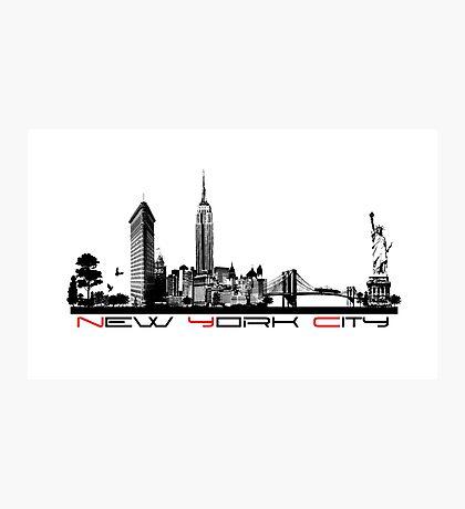 New York City skyline elegant Photographic Print