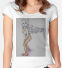 """""""fingers crossed"""" Women's Fitted Scoop T-Shirt"""