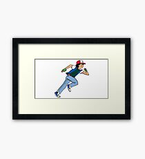 Ash Ketchum Running Framed Print