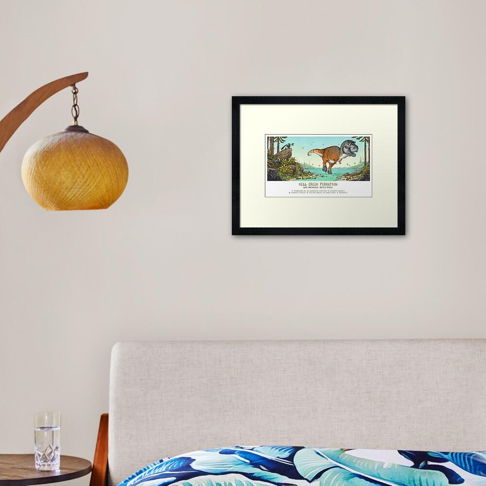 Hell Creek Formation Framed Art Print