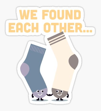 Character Building - Valentines Socks Sticker