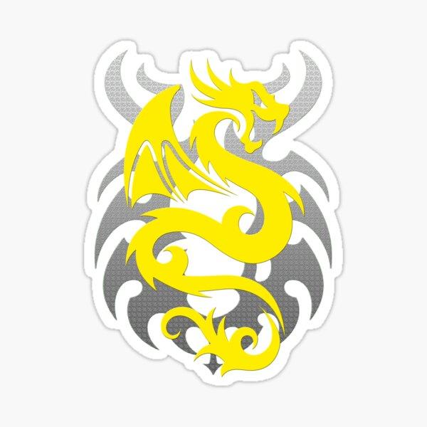 Yellow Dragon Sticker