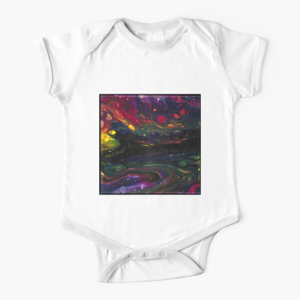 Acrylic Abstract Pour Short Sleeve Baby One-Piece