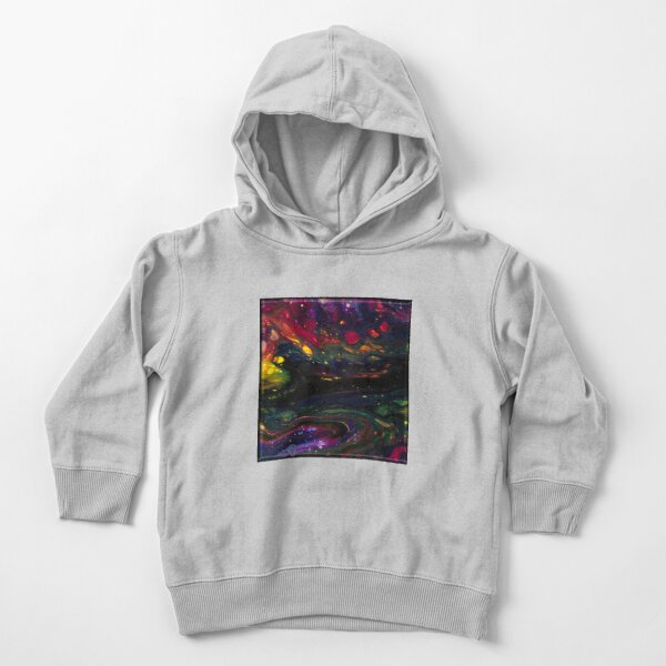 Acrylic Abstract Pour Toddler Pullover Hoodie