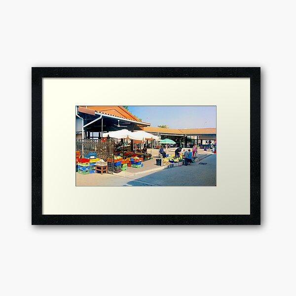 Paphos Fruit Market Framed Art Print