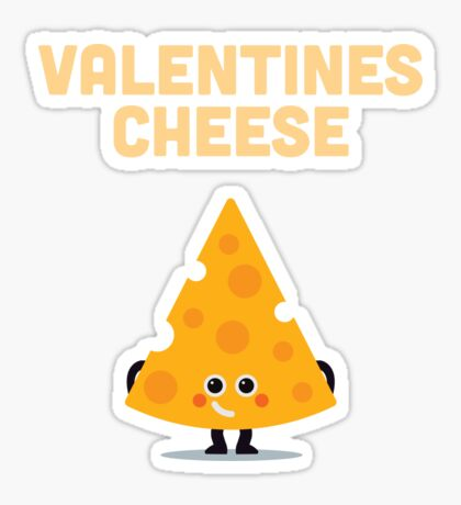 Character Building - Valentines cheese Sticker