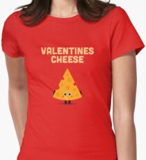 Character Building - Valentines cheese Women's Fitted T-Shirt