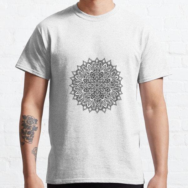Mandala number 7 black flower Classic T-Shirt