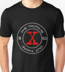 X-Files, red, white, black logo design Unisex T-Shirt