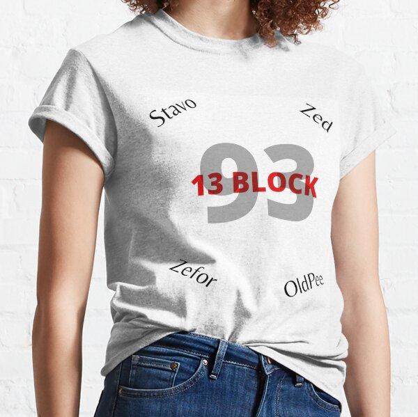 13 block T-shirt classique