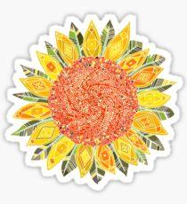 sunflower field Sticker