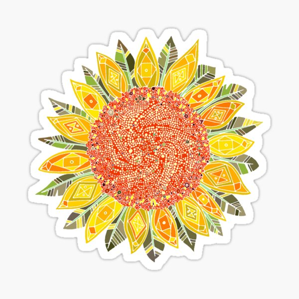 sunflower field Sticker