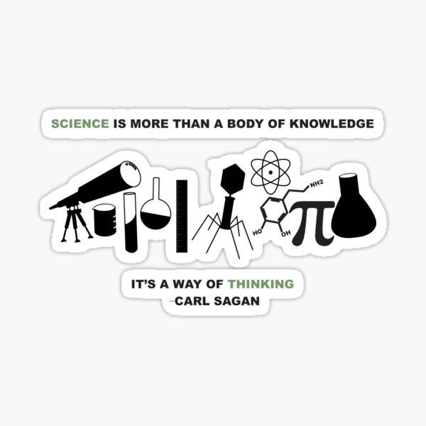 Carl Sagan science quote Sticker