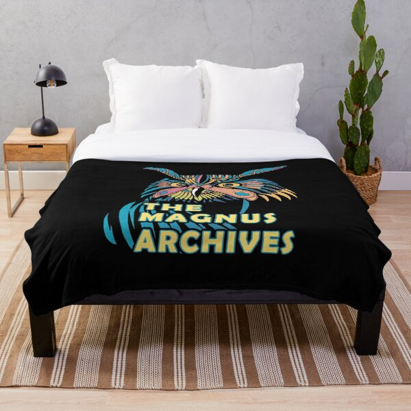 The Magnus Archives Owl Design Throw Blanket