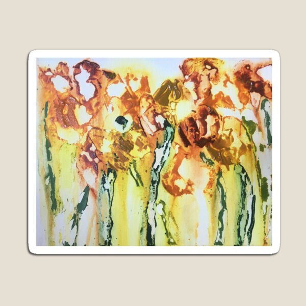 Orange and Yellow Flowers Magnet