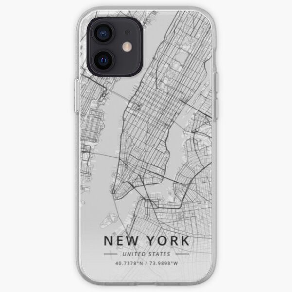 new york usa vintage map design iPhone Soft Case