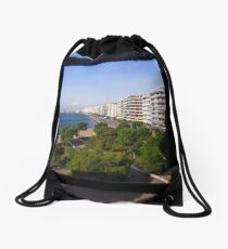 Thessaloniki from above Drawstring Bag